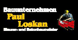 Maurer- und Betonbaumeister Paul Loskan - Logo